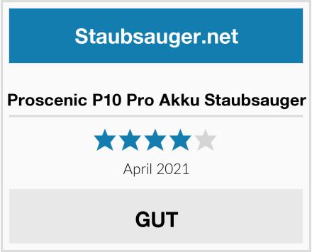 Proscenic P10 Pro Akku Staubsauger Test