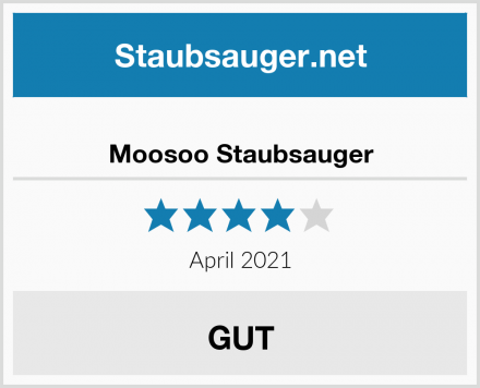 Moosoo Staubsauger Test