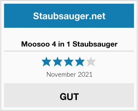 Moosoo 4 in 1 Staubsauger Test