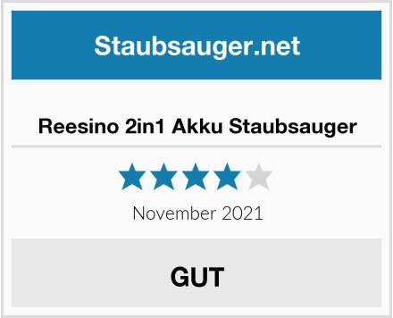 Reesino 2in1 Akku Staubsauger Test
