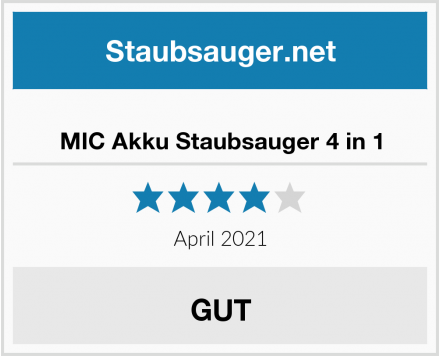 MIC Akku Staubsauger 4 in 1 Test