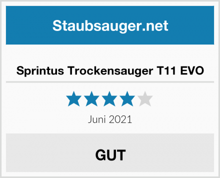 Sprintus Trockensauger T11 EVO Test