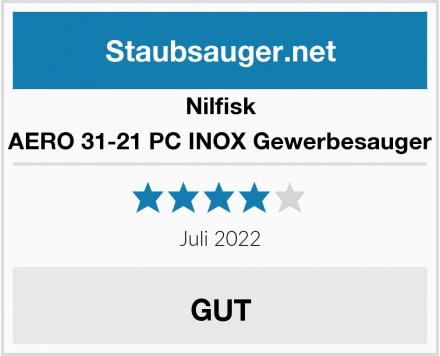 Nilfisk AERO 31-21 PC INOX Gewerbesauger Test