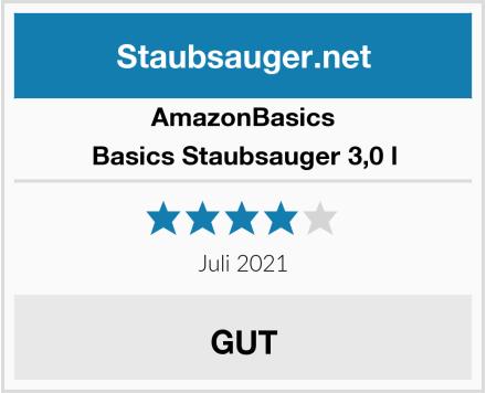 AmazonBasics Basics Staubsauger 3,0 l Test