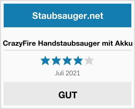 CrazyFire Handstaubsauger mit Akku Test