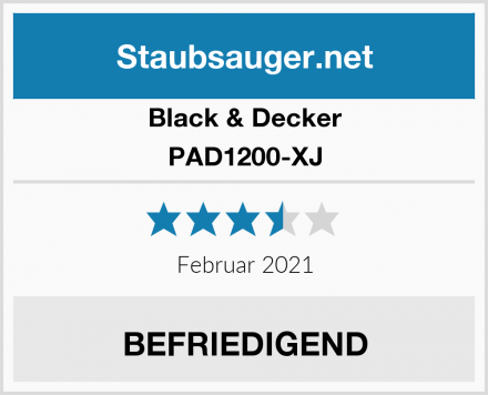 Black & Decker PAD1200-XJ Test