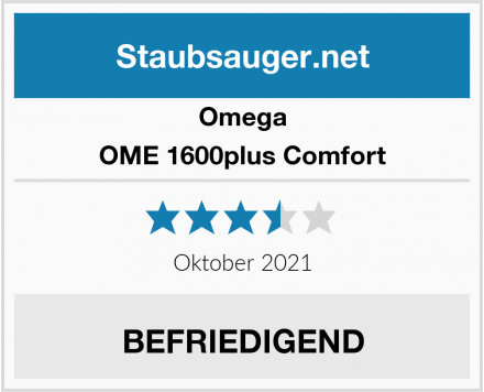 Omega OME 1600plus Comfort Test