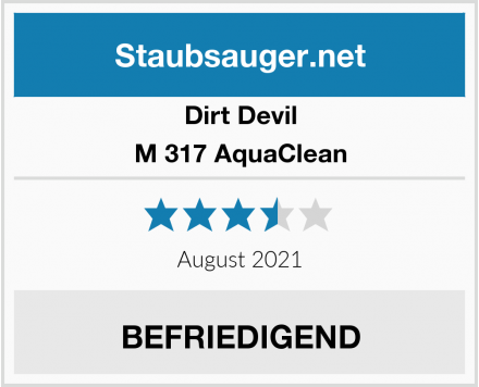 Dirt Devil M 317 AquaClean Test