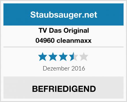 TV Das Original 04960 cleanmaxx Test