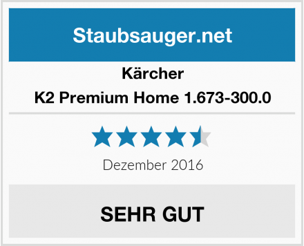 Kärcher K2 Premium Home 1.673-300.0 Test