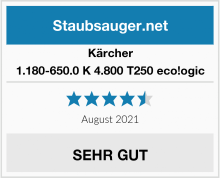 Kärcher 1.180-650.0 K 4.800 T250 eco!ogic Test