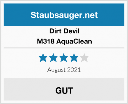 Dirt Devil M318 AquaClean Test