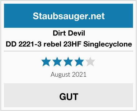 Dirt Devil DD 2221-3 rebel 23HF Singlecyclone Test
