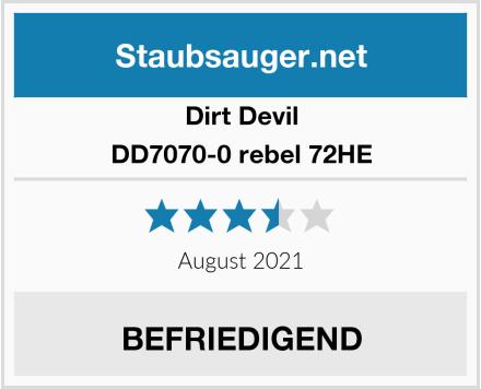 Dirt Devil DD7070-0 rebel 72HE Test