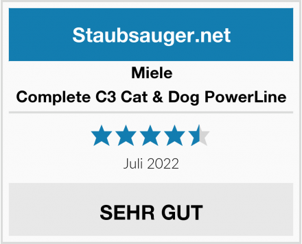 Miele Complete C3 Cat & Dog PowerLine Test