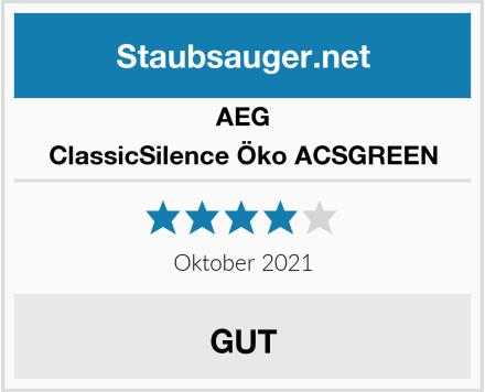 AEG ClassicSilence Öko ACSGREEN Test