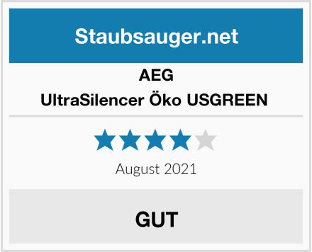 AEG UltraSilencer Öko USGREEN  Test