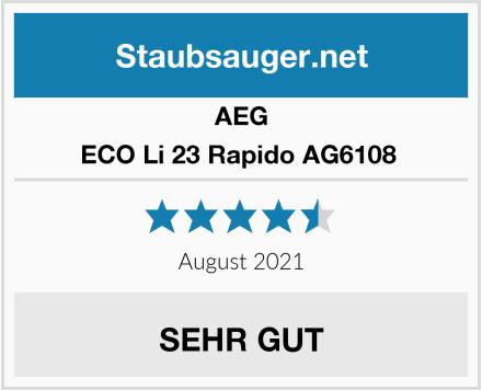 AEG ECO Li 23 Rapido AG6108  Test
