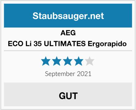 AEG ECO Li 35 ULTIMATES Ergorapido  Test
