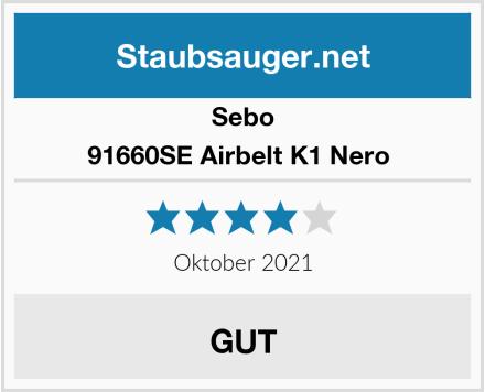 Sebo 91660SE Airbelt K1 Nero  Test
