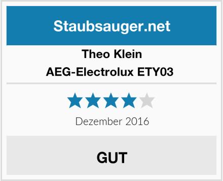 Theo Klein AEG-Electrolux ETY03  Test