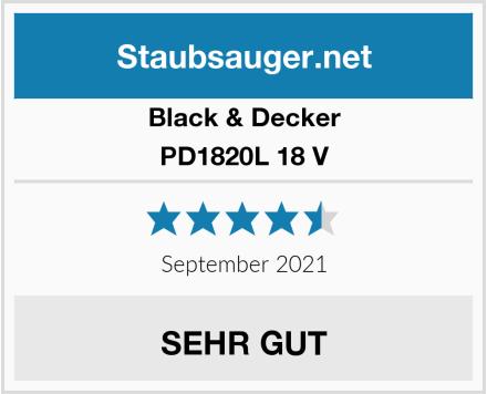 Black & Decker PD1820L 18 V  Test
