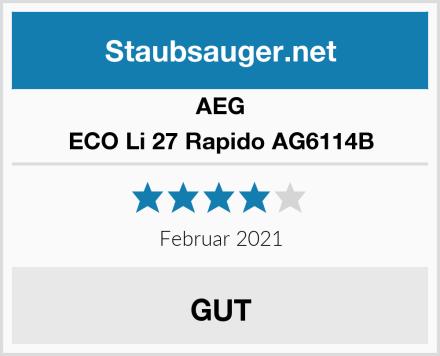 AEG ECO Li 27 Rapido AG6114B Test