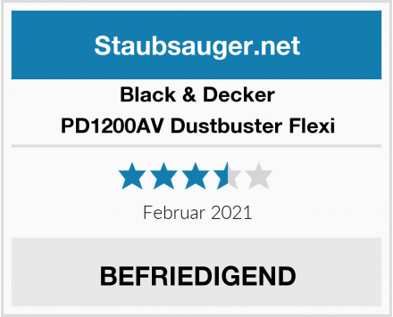 Black & Decker PD1200AV Dustbuster Flexi  Test