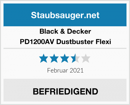 Black & Decker PD1200AV Dustbuster Flexi Test
