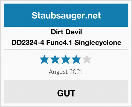 Dirt Devil DD2324-4 Func4.1 Singlecyclone Test