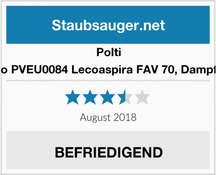 Polti Vaporetto PVEU0084 Lecoaspira FAV 70, Dampfreiniger  Test