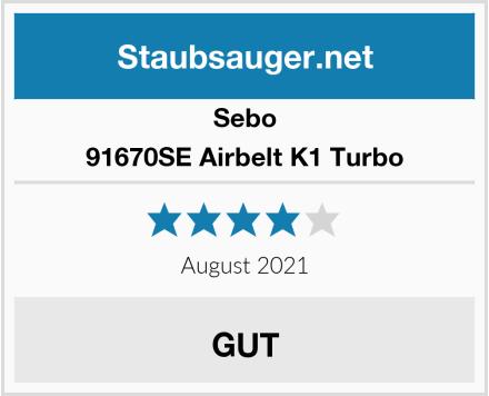 Sebo 91670SE Airbelt K1 Turbo Test