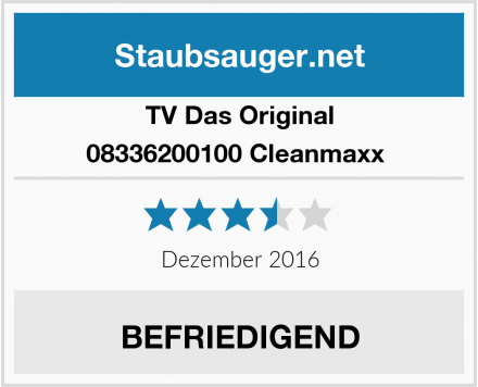 TV Das Original 08336200100 Cleanmaxx  Test