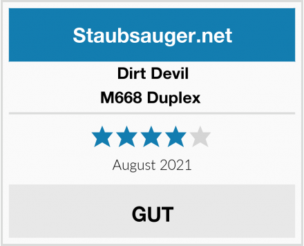 Dirt Devil M668 Duplex  Test