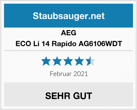 AEG ECO Li 14 Rapido AG6106WDT  Test