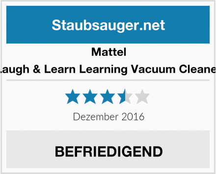 Mattel Laugh & Learn Learning Vacuum Cleaner Test