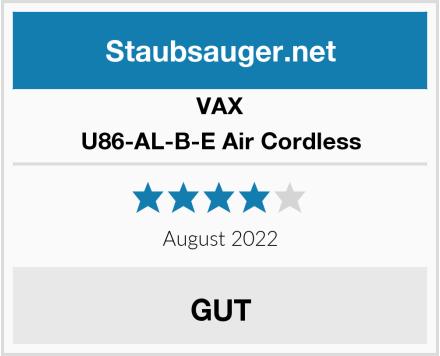 VAX U86-AL-B-E Air Cordless Test