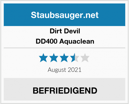 Dirt Devil DD400 Aquaclean Test