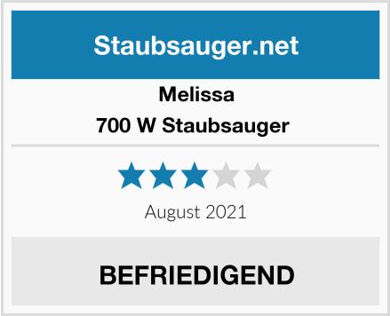 Melissa 700 W Staubsauger  Test